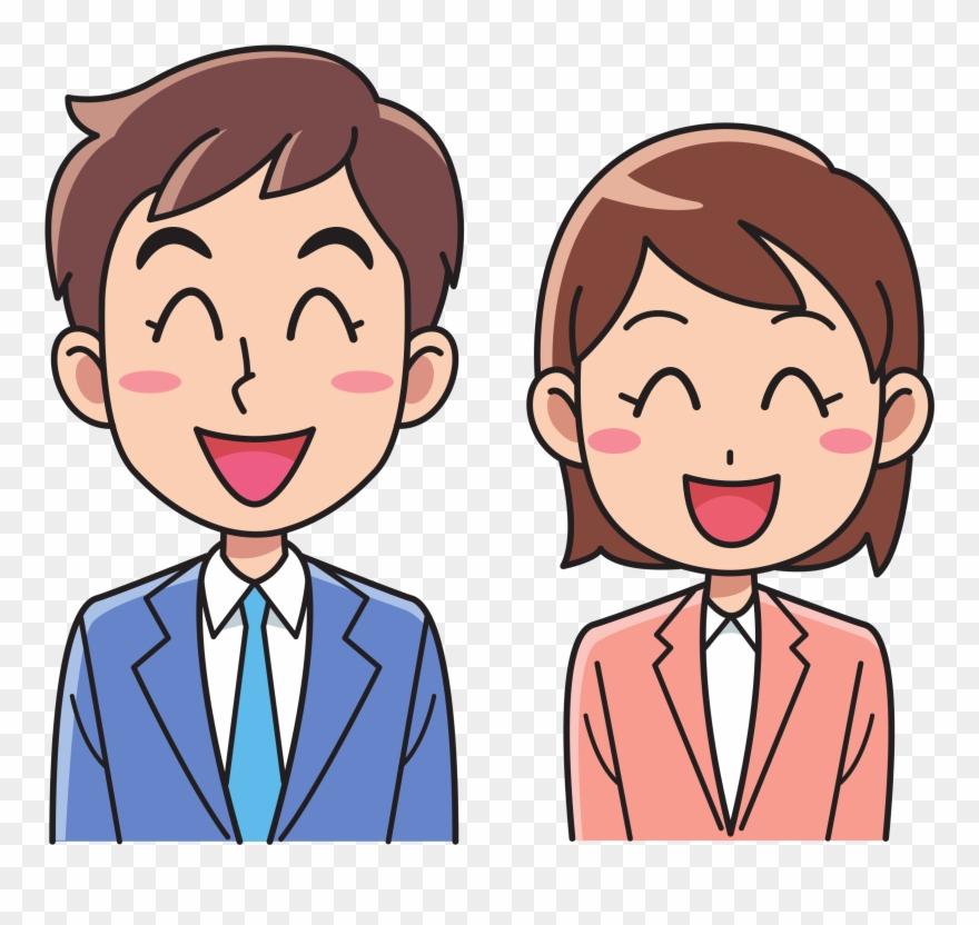 Download Man Woman Cartoon Clipart Businessperson Clip.