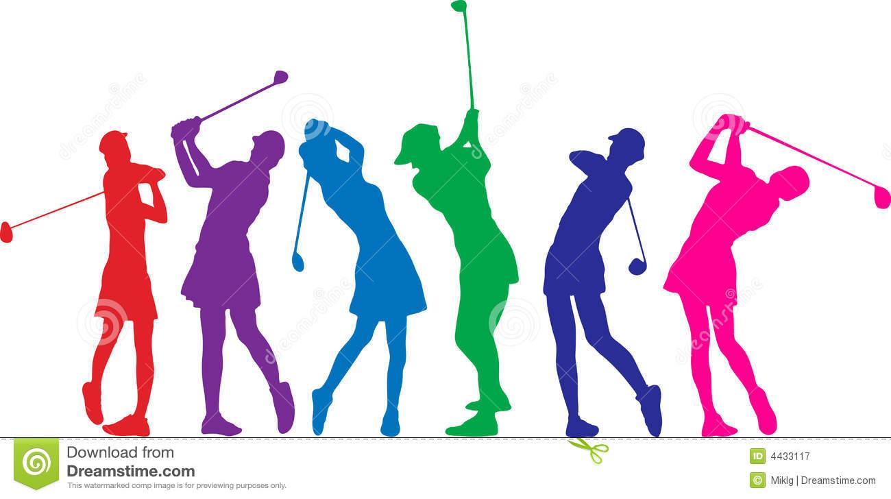 Woman Golf Clipart.