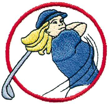 Women Golfers Cartoon Graphics.