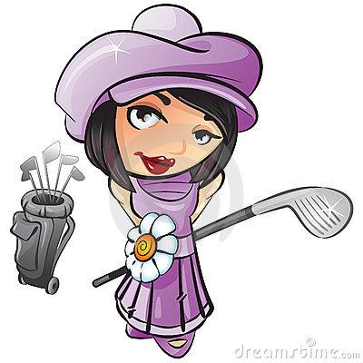 Free golf clipart graphics. Golf player, man, woman, bunny, ball.