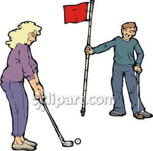 Showing post & media for Woman man golfer cartoon.