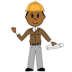 Stick Man Working Clipart.
