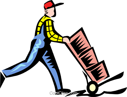 man working Royalty Free Vector Clip Art illustration.