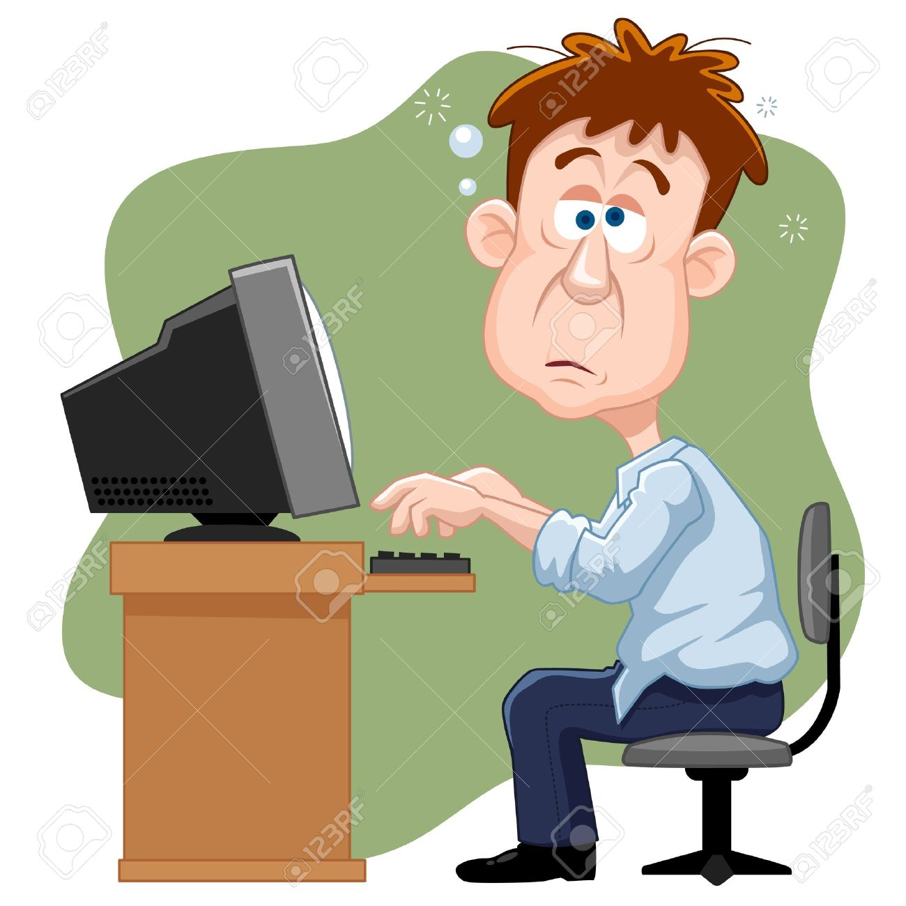 Man working on computer clipart 5 » Clipart Station.