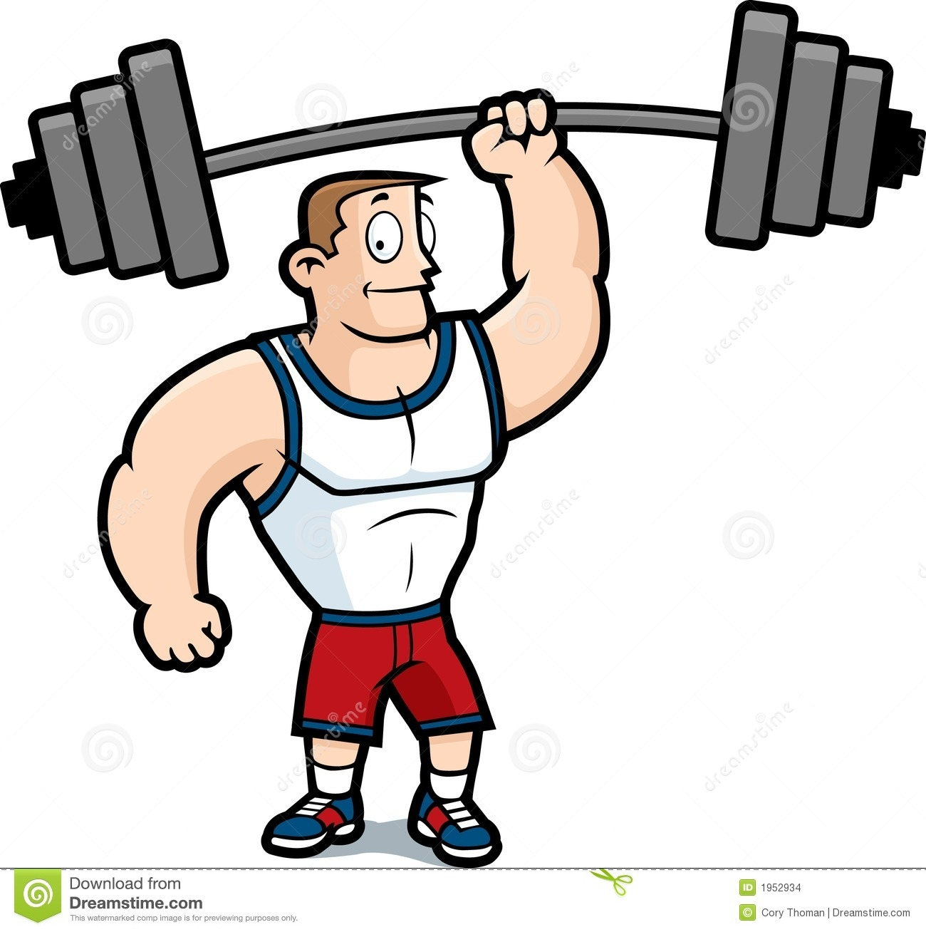 Man Working Out Clipart.