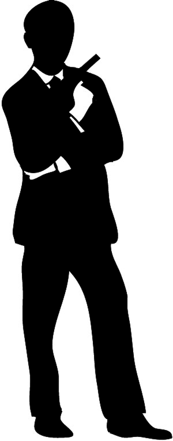 Man Working Silhoutte Clipart.