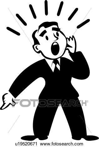 Yelling man clipart 6 » Clipart Portal.