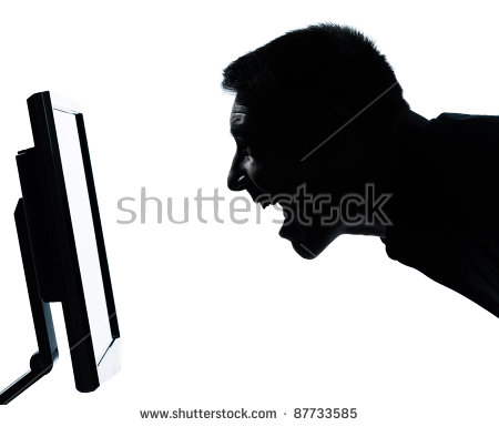 Scream Face Man Side Stock Images, Royalty.
