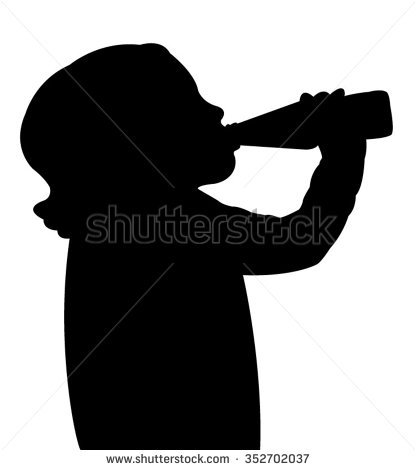 Silhouette Man Folded His Fingers Into Stock Vector 138680069.