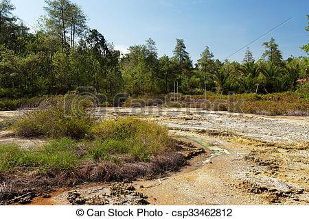 Stock Photography of sulphurous lakes near Manado, Indonesia.