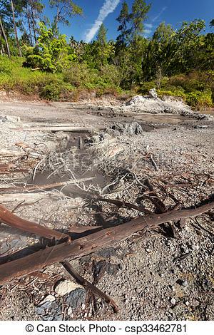 Pictures of sulphurous lakes near Manado, Indonesia.