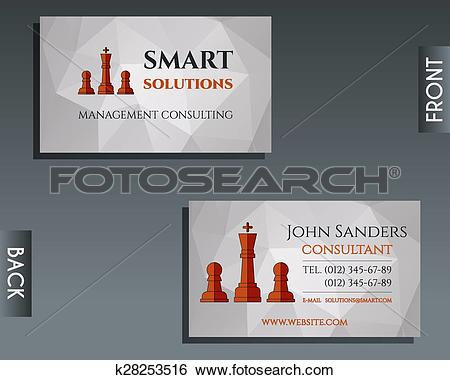 Clip Art of Business and management consulting visiting card.