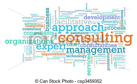 Clip Art of Management Consulting Service in a Company as Art.
