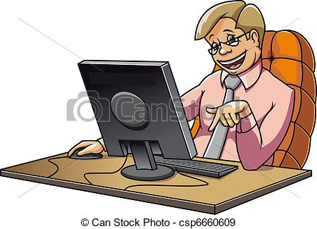 computer in office clipart #20
