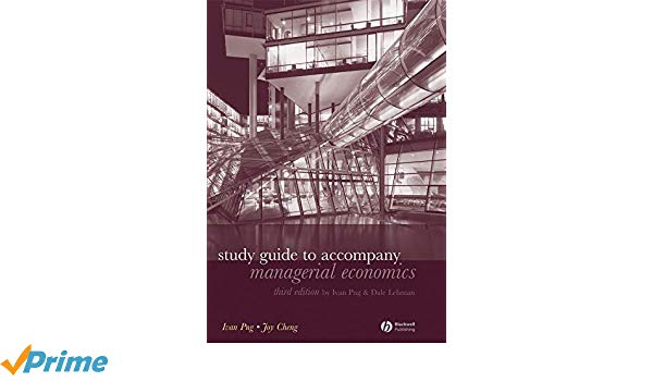 Study Guide to Accompany Managerial Economics, Third Edition.
