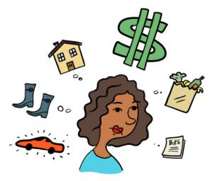 Managing Your Money Clip Art.