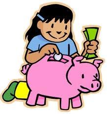 Kids Spending Money Clipart.