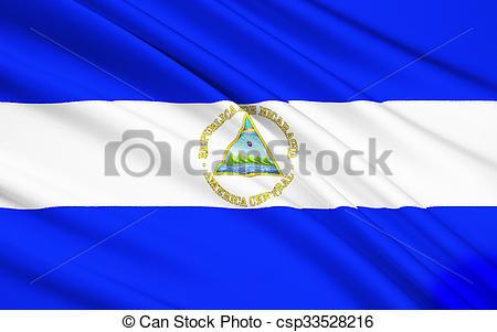 Clipart of Flag of Nicaragua, Managua.