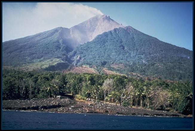 Manam Volcano, in Papua New Guinea, Sees Mild Eruptions.