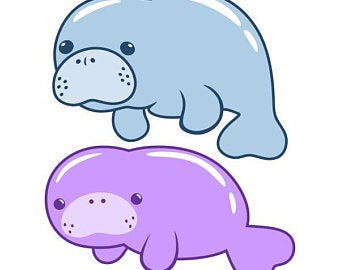 Download for free 10 PNG Manatee clipart drawn Images With.
