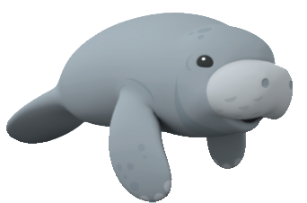 Manatee clipart download.