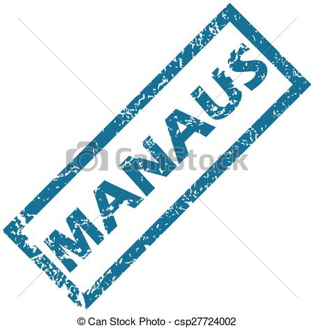 Vector Clipart of Manaus rubber stamp.