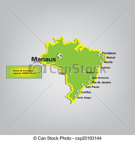 EPS Vector of manaus stadium map location csp20193144.