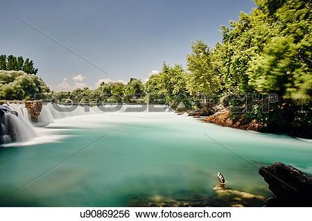 Stock Images of Manavgat waterfall, Antalya,Turkey u90869256.
