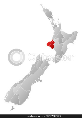 Map of New Zealand, Manawatu.