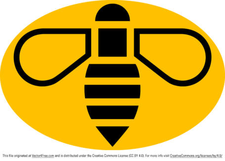 Manchester Bee Vector Logo, Vector File.