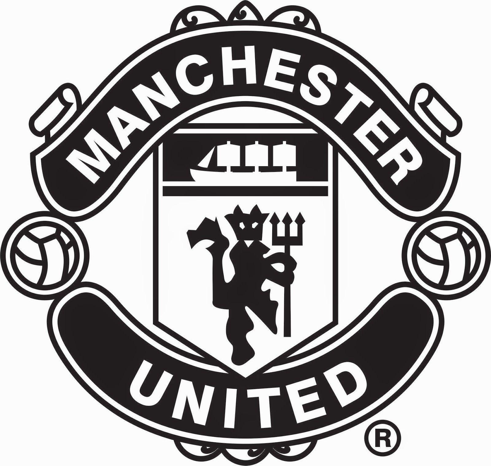 Manchester United Logo Silhouette.