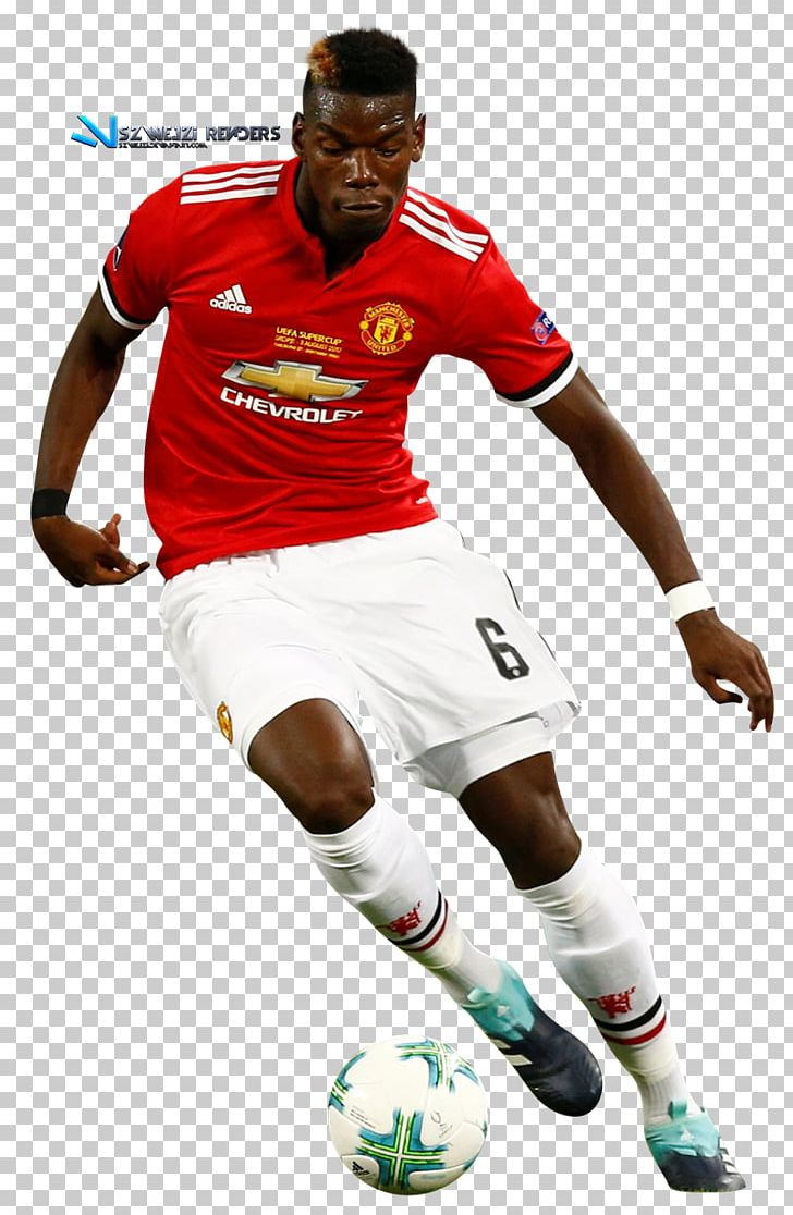 Paul Pogba Manchester United F.C. Football Player PNG.