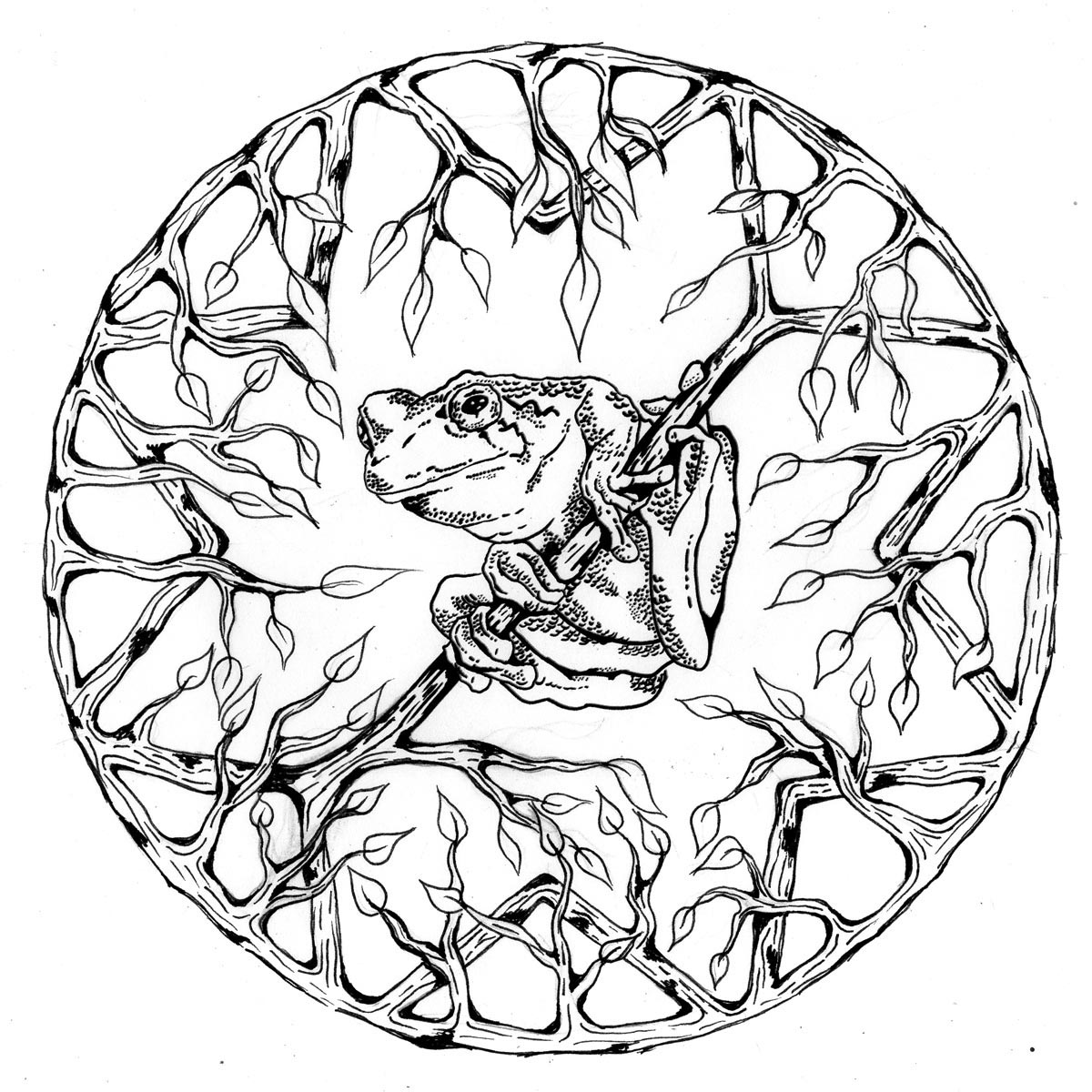 Animal Mandala Clipart Easy.