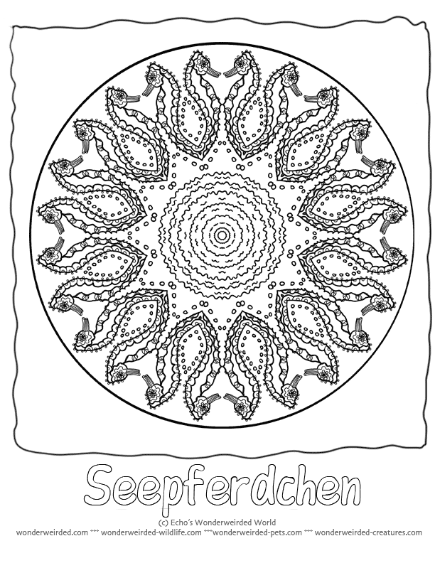 Animal Mandala Clipart.