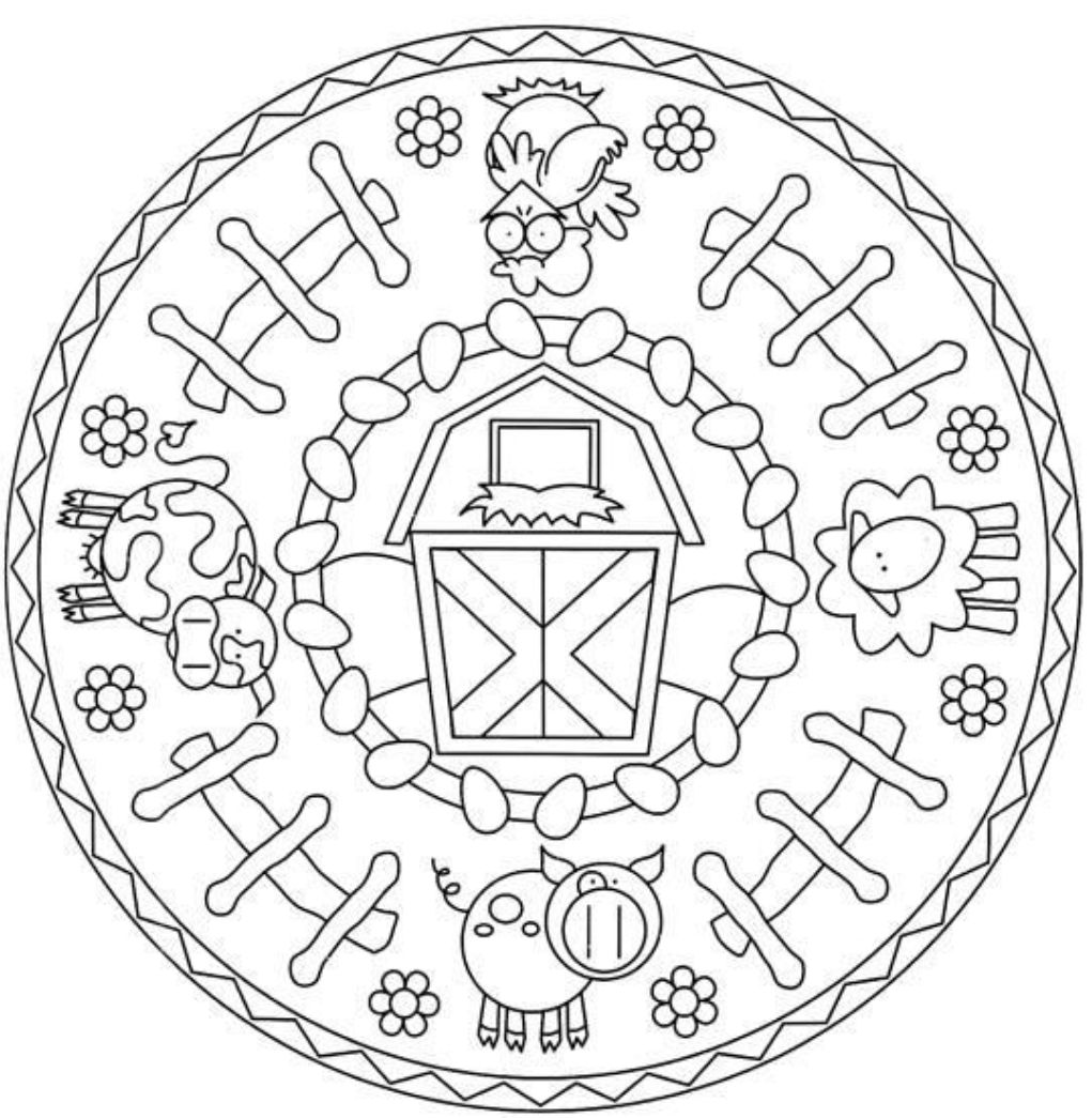 Animal Mandala Coloring Pages Online. Animal. Download Coloring.