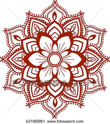 Mandala design Clip Art.
