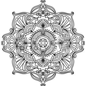 mandala geometric vector design 005 clipart. Royalty.