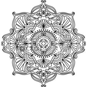 mandala geometric vector design 005 clipart. Royalty.