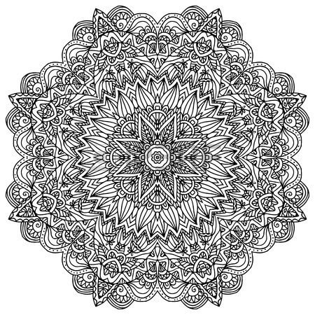 Lacy Ornate Vector Black Napkin On White Background Royalty.