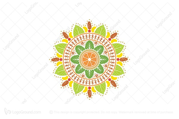 Exclusive Logo 119612, Vegan Mandala Logo.