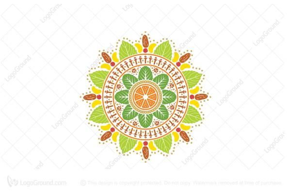 Exclusive Logo 119612, Vegan Mandala Logo.