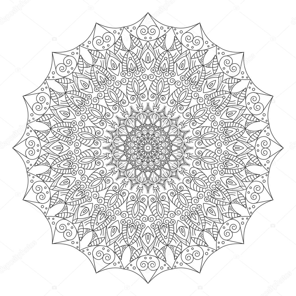 White mandala png.