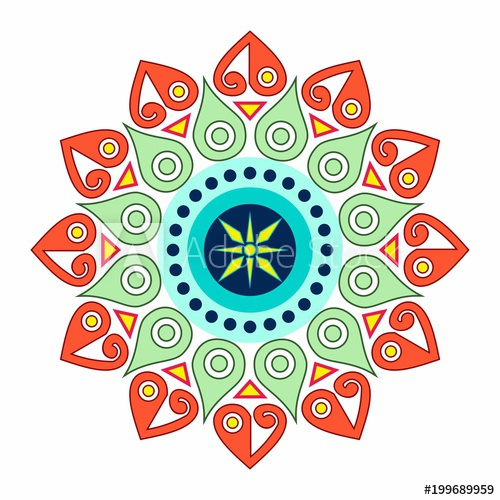 simple mandala design for ornament.