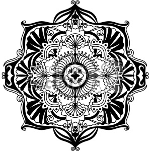 mandala vector art clipart. Royalty.