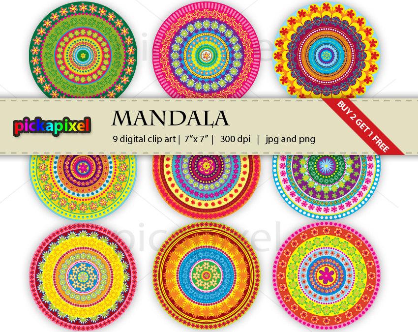 Mandalas clipart.