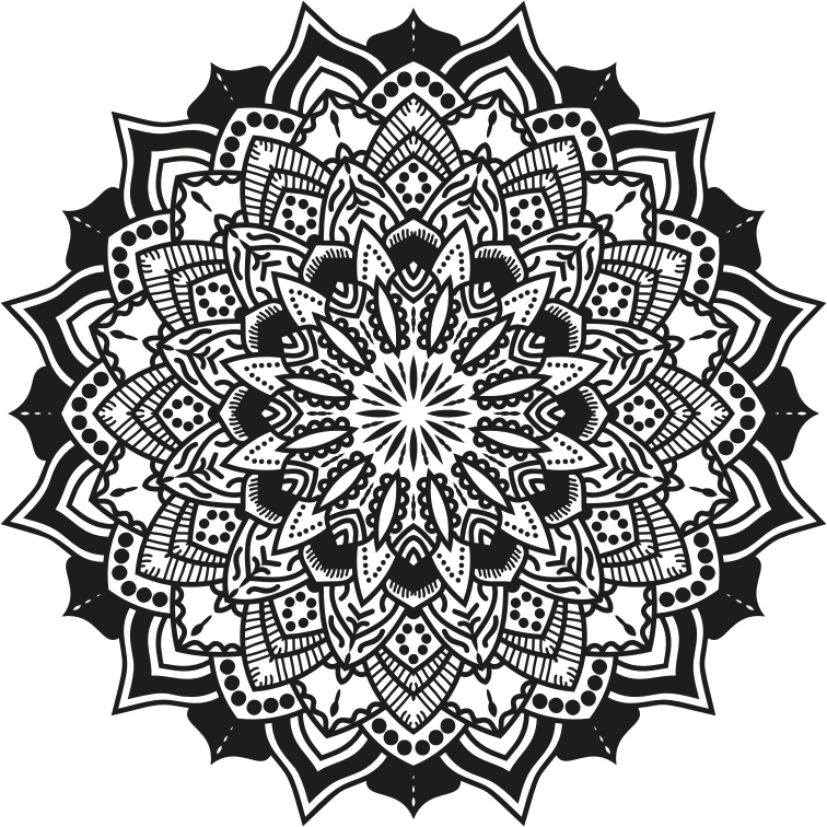 Mandala Vector graphics Poster Illustration.