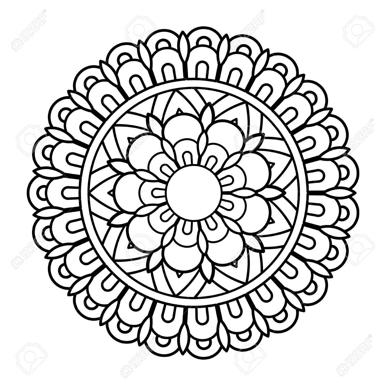 Download Free png Flower Mandala Vector Illustration Royalty.