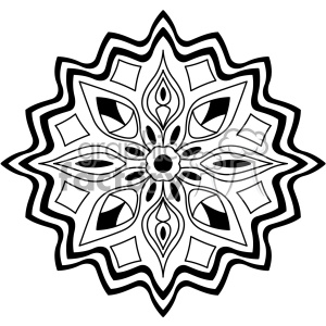 mandala geometric vector design 011 clipart. Royalty.