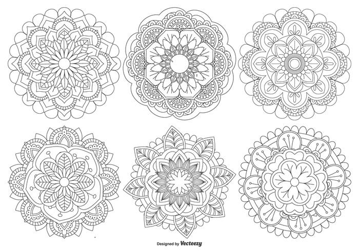 Beautiful Mandala Shapes Collection.