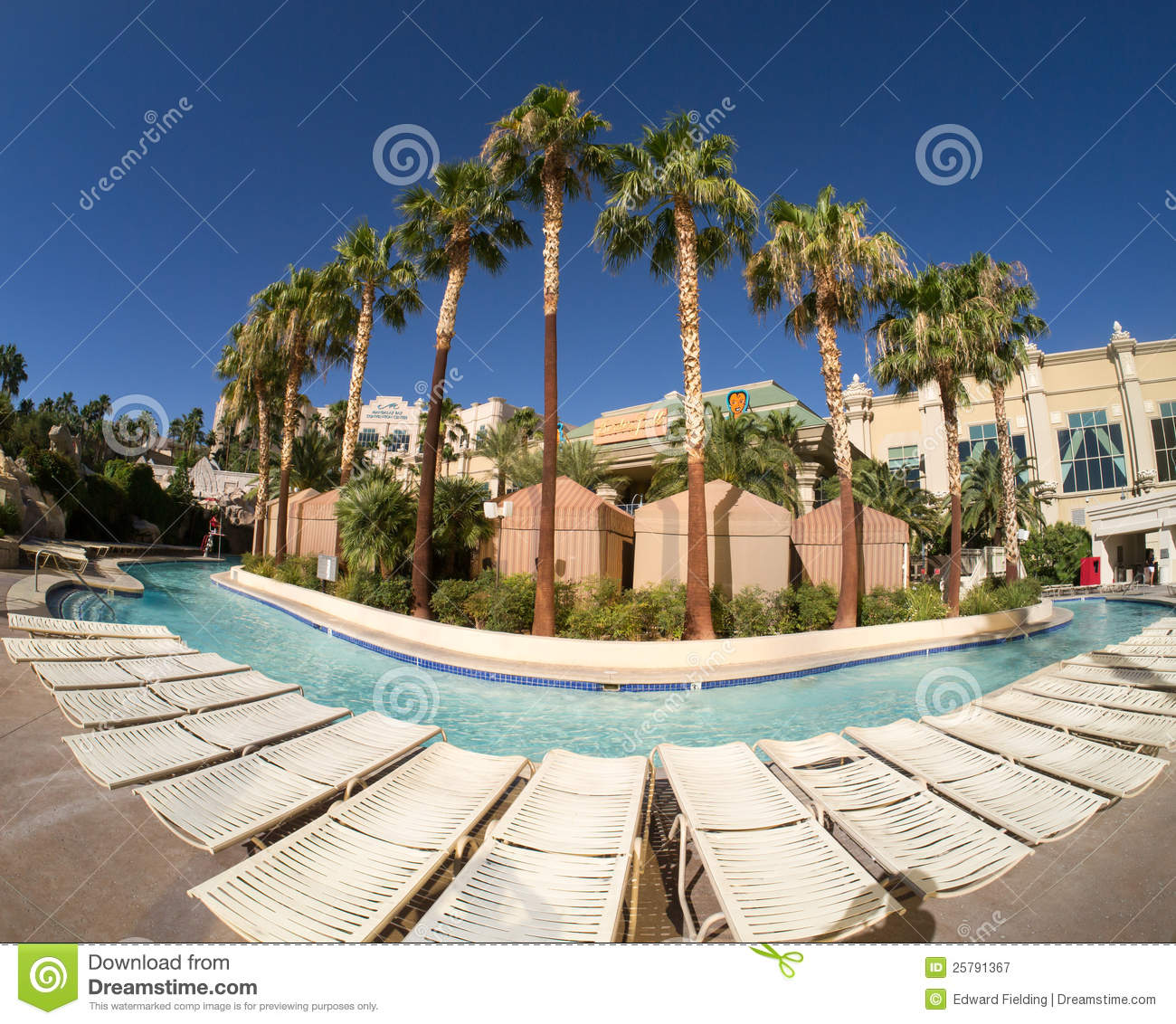 Lazy River At Mandalay Bay Hotel And Casino Resort Editorial.
